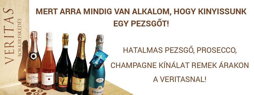 Pezsgő-Pezsgők-Prosecco-Champagne Különleges méretben